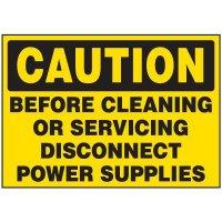 Caution Machine Labels