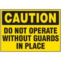 Do Not Operate Machine Caution Labels