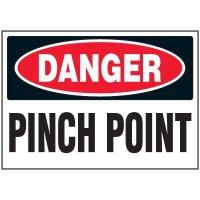 Pinch Point Machine Danger Labels