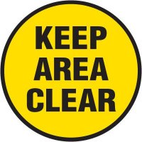Floor Safety Signs - Keep Area Clear