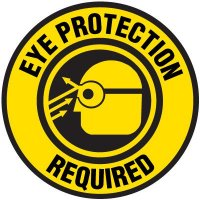 Floor Safety Signs - Eye Protection Required