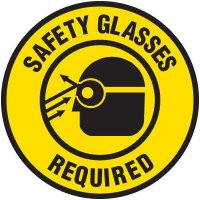 Floor Safety Signs - Safety Glasses Required