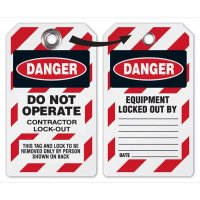 Do Not Operate Contractor Lock-Out Tag