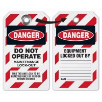 Maintenance Lockout Tag