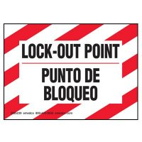 Lock-Out Labels - Blingual Lock-Out Point