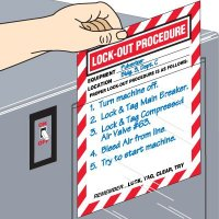 Adhesive-Backed Lockout Procedure Signs