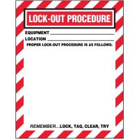 Blank Replacement Lock-Out Procedure Sign Inserts