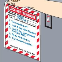 Magnetic Lockout Procedure Sign