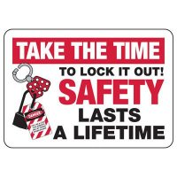 Lock-Out Signs - Take Time To Lock It Out