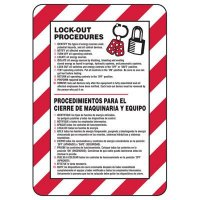 Bilingual Lock-out Procedure Sign