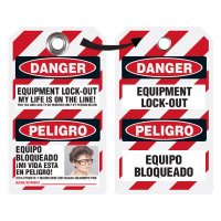EZ Photo Lockout Tags - Equipment Lock Out (Bilingual)