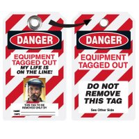 EZ Photo Lockout Tags - Equipment Tagged Out