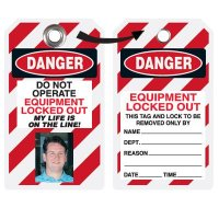 EZ Photo Lockout Tags - Do Not Operate Equipment