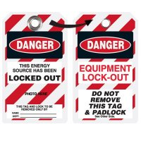 EZ Photo Lockout Tags - Energy Source Locked Out
