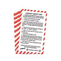 Lockout Safety Tips - Lockout Safety Wallet Cards