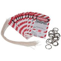Brady 105368 Lockout Tag w/ Detachable Key Stub - Danger - EQUIPMENT LOCKED OUT  - Pack of 25