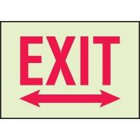 Luminous Double Arrow Exit Sign