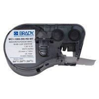 Brady BMP51/BMP41 MC1-1000-595-RD-WT Label Cartridge - White on Red