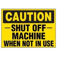 Shut Off Machine Warning Markers