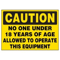Machine Caution Warning Markers
