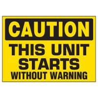 Unit Starts Without Warning Markers