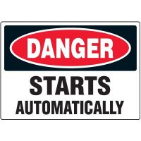 Equipment Starts Automatically Warning Markers