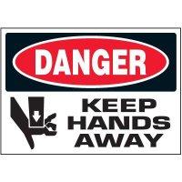 Keep Hands Away Warning Markers