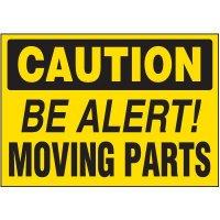 Be Alert Moving Parts Warning Markers