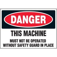 Must Operate With Safety Guard Warning Markers