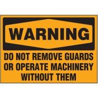 Machine Hazard Warning Markers