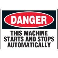 Machine Starts & Stops Automatically Warning Markers