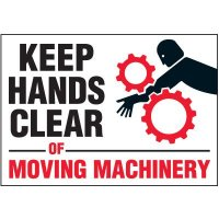Keep Hands Clear Warning Markers