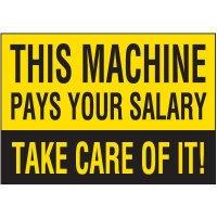 Machine Pays Salary Warning Markers