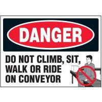 Do Not Climb Warning Markers