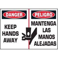 Bilingual Keep Hands Away Label