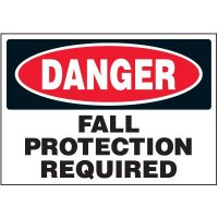 Machine Safety Labels - Danger Fall Protection Required