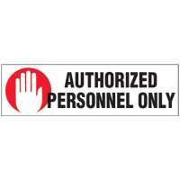 Magnetic Labels - Authorized Personnel Only