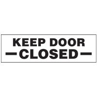 Keep Door Closed Magnetic Cabinet Label