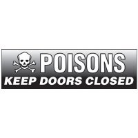 Magnetic Poisons Storage Cabinet Label