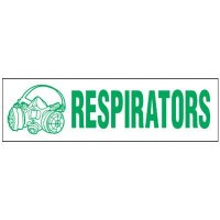 Magnetic Respirators Storage Cabinet Label