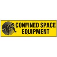 Confined Space Equipment Magnetic Cabinet Label