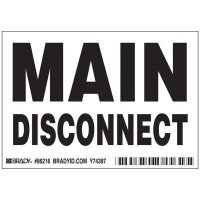 Brady 86216 Main disconnect Labels - Pack of 5