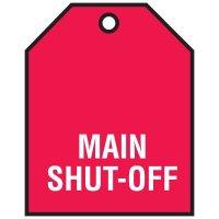 Main Shut-Off - Vinyl Valve Indicator Tag