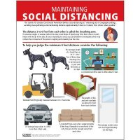 Maintain Social Distancing Poster