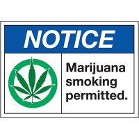 Marijuana Smoking Permitted - Notice Labels
