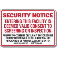 MARSEC Security Sign
