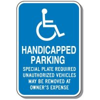 State-Specific Handicap Parking Signs - Massachusetts