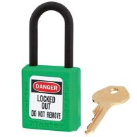 Master Lock® Dielectric Thermoplastic Safety Padlocks - Keyed Alike