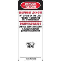 Bilingual EZ-Photo Padlock Replacement Face Label