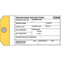 Receiving Rejection Material Management Tags